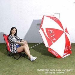 アウトドア キャンプ 廃盤レア品 ビーチテント ビーチパラソル コカ・コーラ ビーチパラソル ドウシシャDH-20CO02
