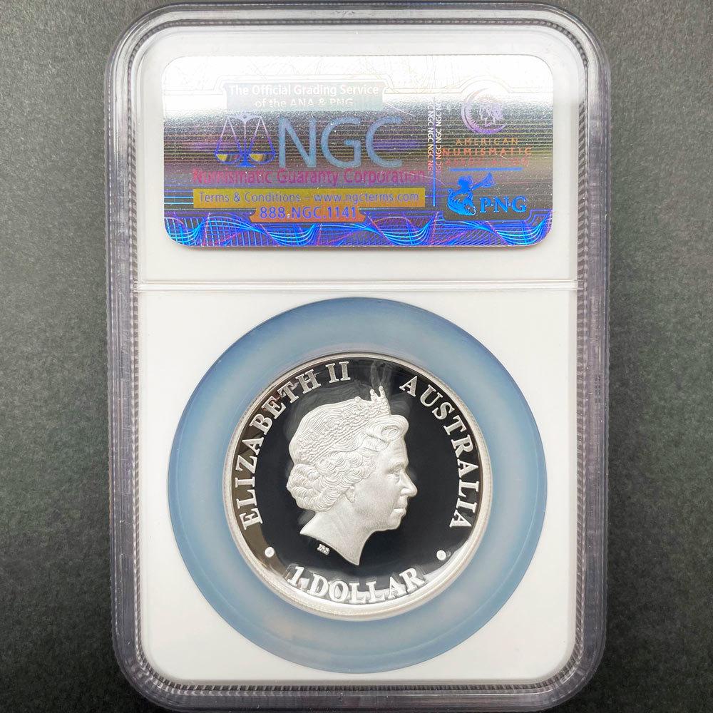 2012 オーストラリア ハイレリーフ コアラ 1豪ドル 銀貨 1オンス プルーフ NGC PF70 UC 最高鑑定 完全未使用品_画像2
