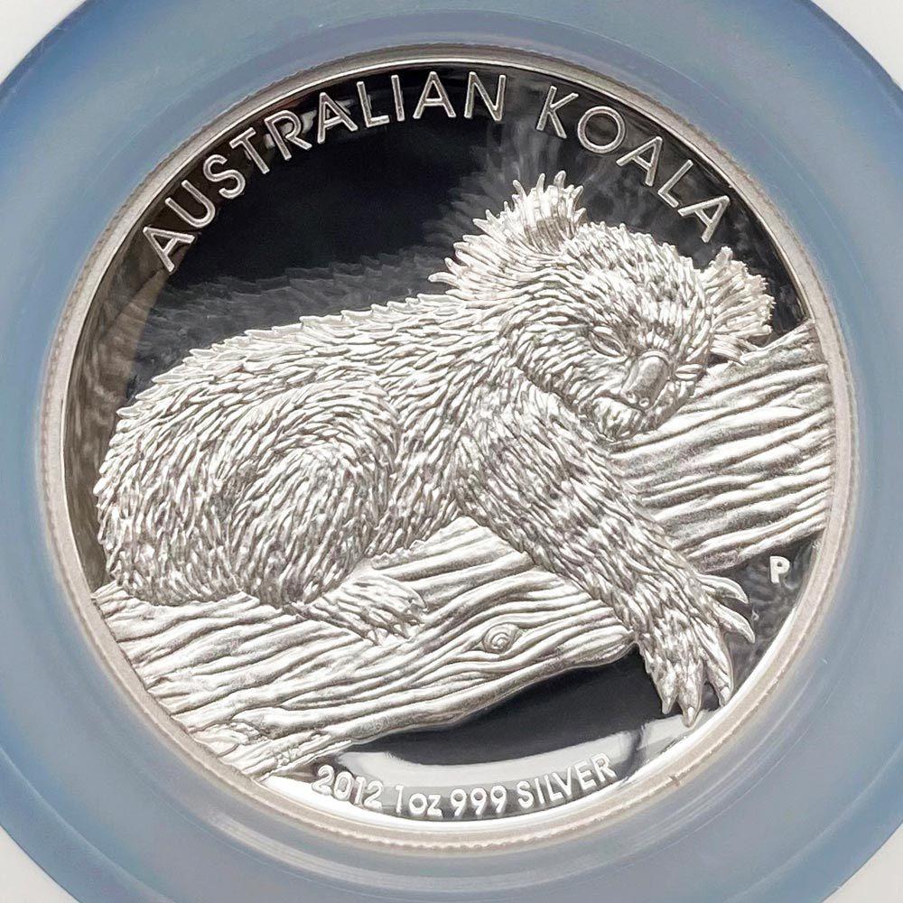2012 オーストラリア ハイレリーフ コアラ 1豪ドル 銀貨 1オンス プルーフ NGC PF70 UC 最高鑑定 完全未使用品_画像3