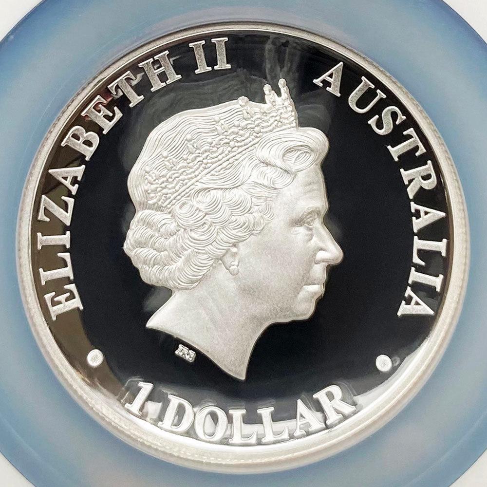 2012 オーストラリア ハイレリーフ コアラ 1豪ドル 銀貨 1オンス プルーフ NGC PF70 UC 最高鑑定 完全未使用品_画像4