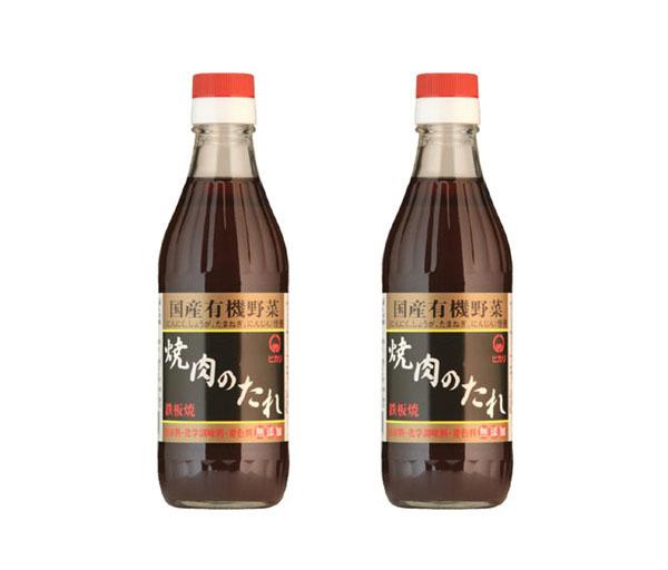 焼肉のたれ(350g)X2本☆無添加・無化学調味料☆保存料や着色料は使用なし☆原料にこだわった、味わい深い焼肉のたれです(*^^*)_画像1
