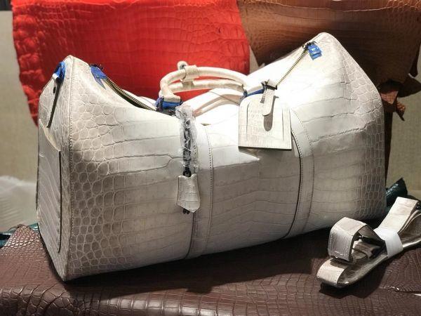 ヒマラヤ クロコダイル レザー ナイルワニ革 ボストンバッグ 鞄 本革 男女兼用 2way ショルダーバッグ メンズ ハンドバッグ 斜め掛け_画像4