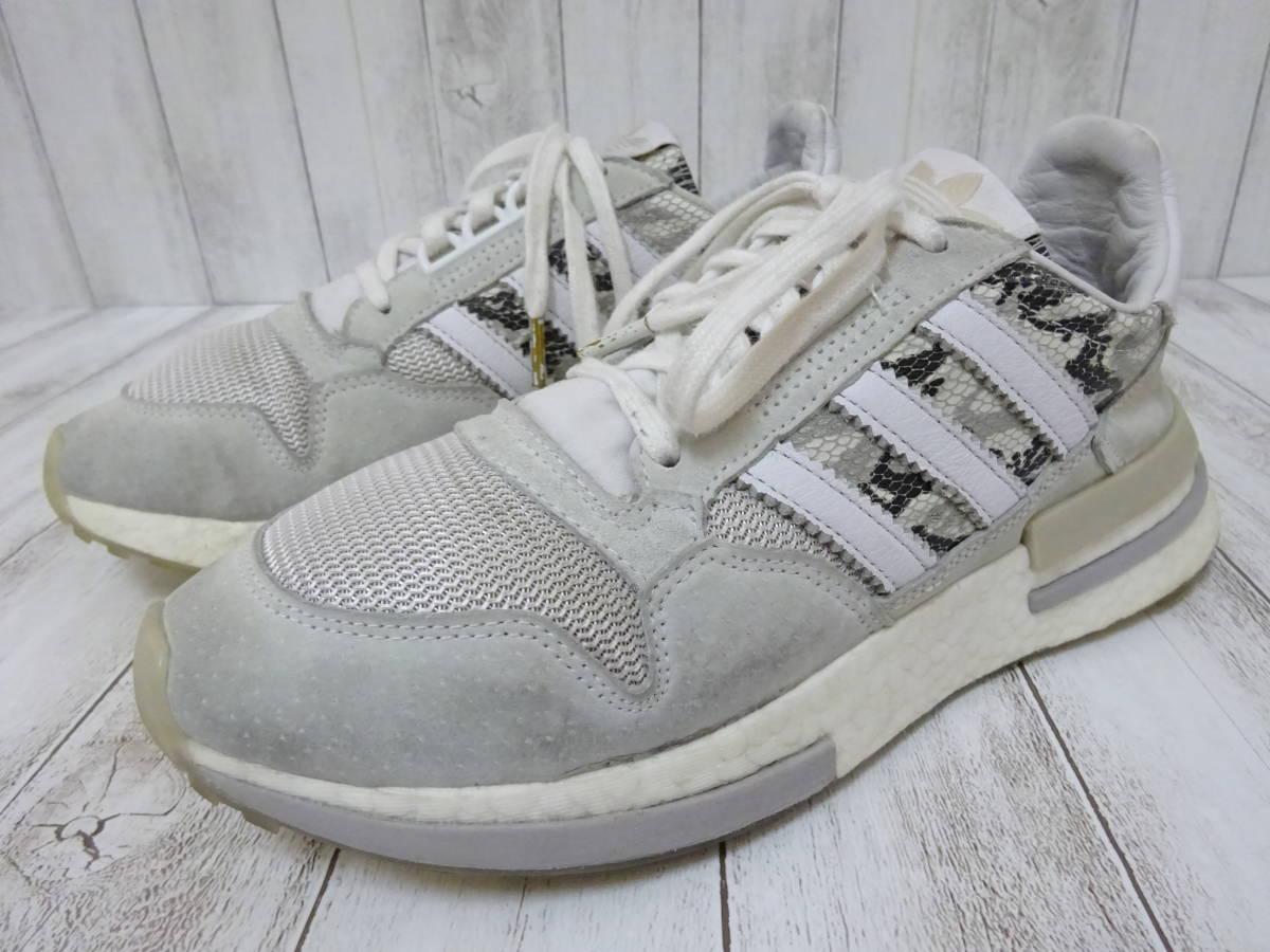adidas Originals ZX500 RM スニーカー ヘビ柄 スネーク柄 ライトグレー 白 25cm US7 アディダス オリジナルス_画像1