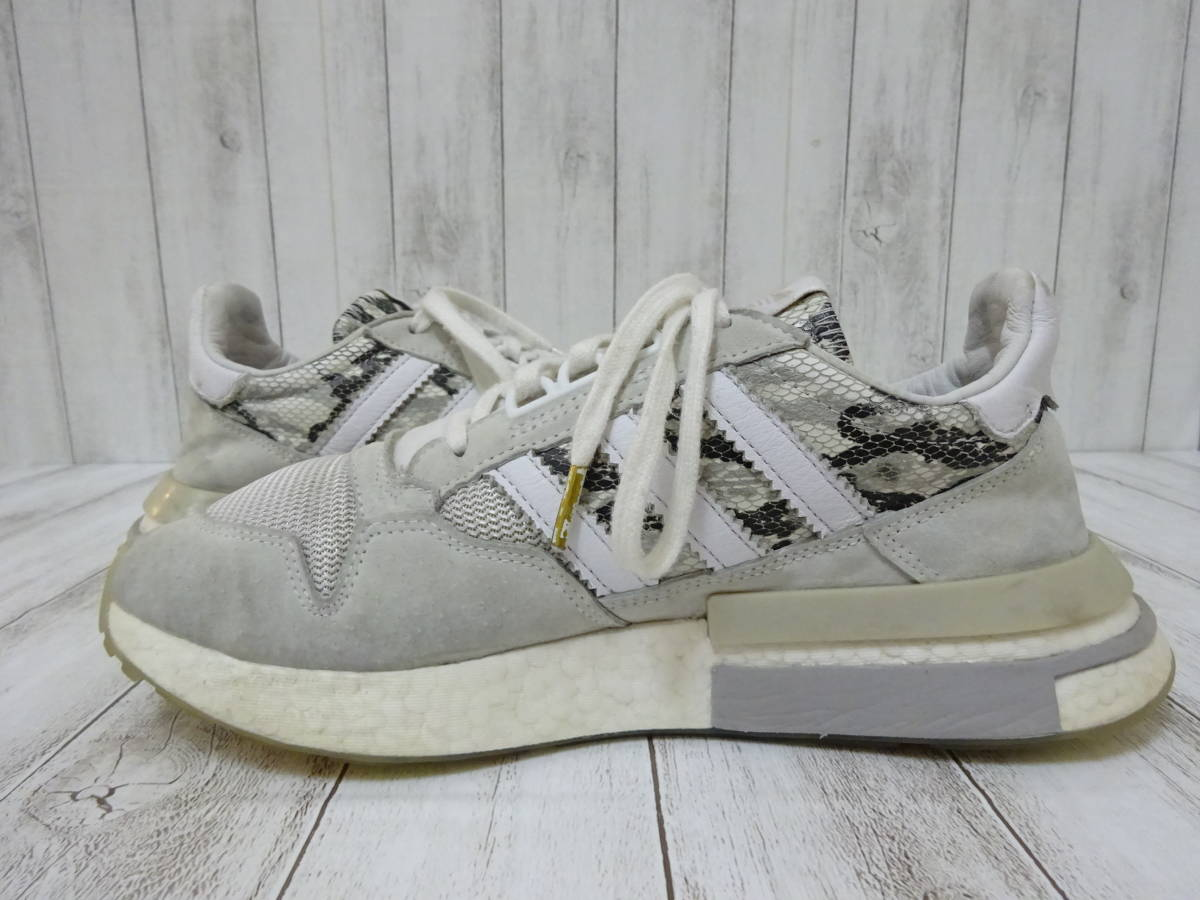 adidas Originals ZX500 RM スニーカー ヘビ柄 スネーク柄 ライトグレー 白 25cm US7 アディダス オリジナルス_画像5