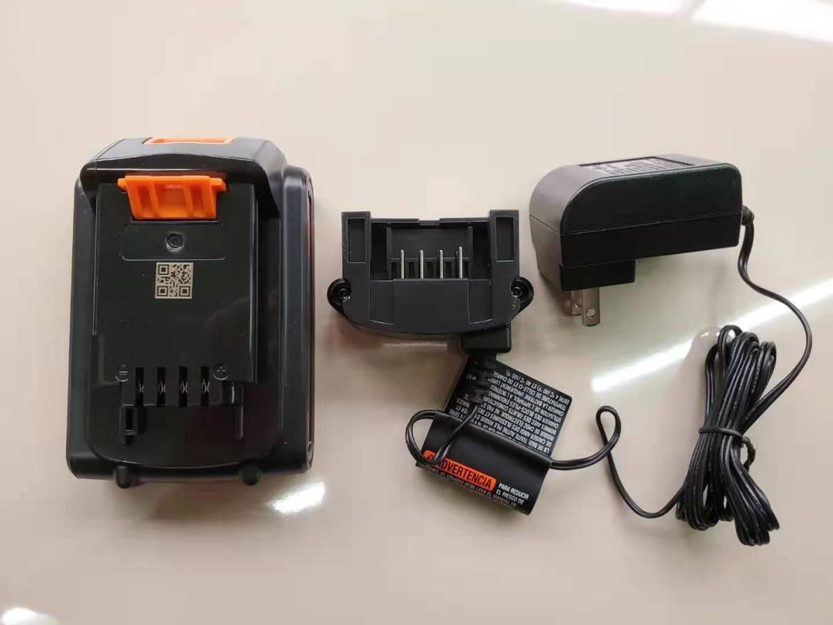 新品 ブラック&デッカー BLACK+DECKER 純正充電器+純正バッテリーBL1518N同等 セット 送料無料