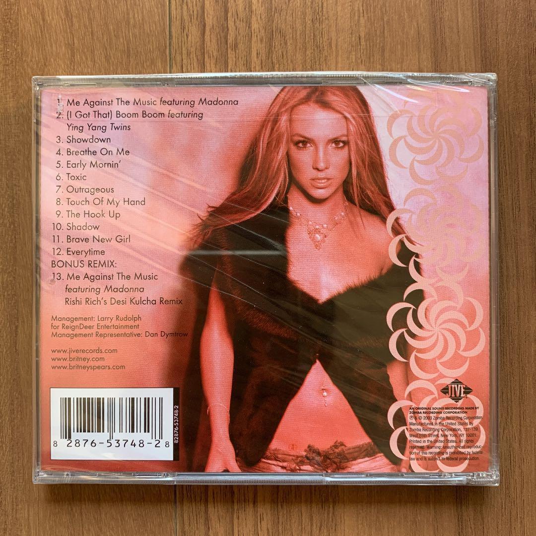 Britney Spears ブリトニー・スピアーズ In the zone イン・ザ・ゾーン US盤 新品未開封