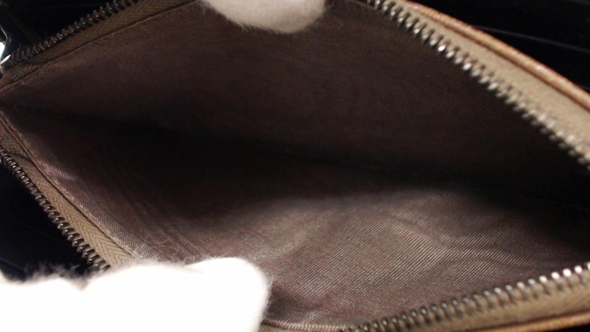 1円美品☆ボッテガ☆イントレチャート ラウンドファスナー長財布 ネイビー【BOTTEGA VENETA】