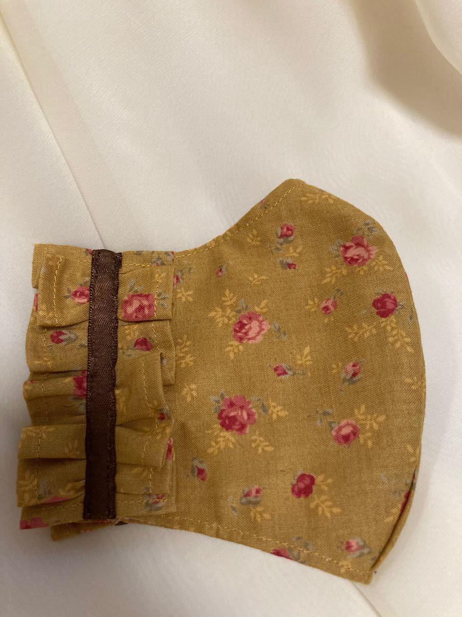 立体インナー ルシアン 薔薇柄 小花柄 フリル ハンドメイド