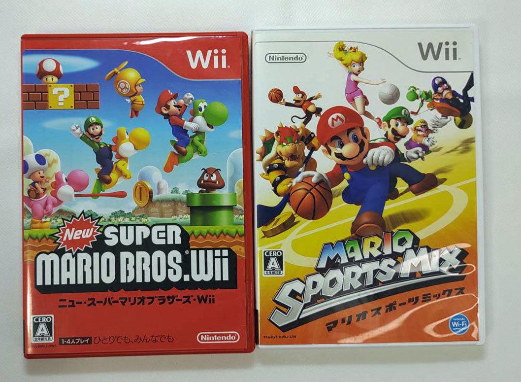 送料無料 即日発送 Nintendo ニンテンドー 任天堂  Wii Newスーパーマリオブラザーズ マリオスポーツミックス 2本セット