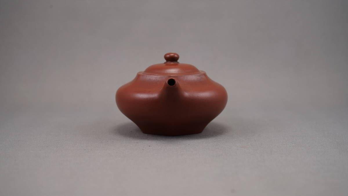 0508-2 唐物 朱泥 急须 在铭 孟臣 水平 煎茶道具 中国古美术 古玩 中国アンティーク サイズ:横10.6cmx高さ5.6cm