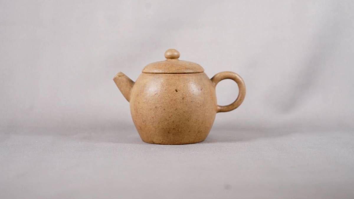 0515-4 唐物 白泥 朱泥 急須 在銘 煎茶道具 中国古美術 古玩 中国アンティーク サイズ:横10.8cmx高さ7.5cm