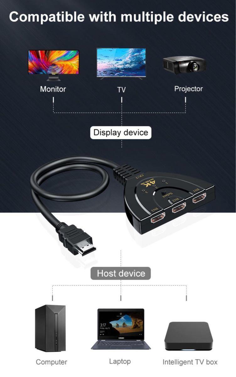 HDMI 切替器 ケーブル 分配器 1出力3入力 セレクター