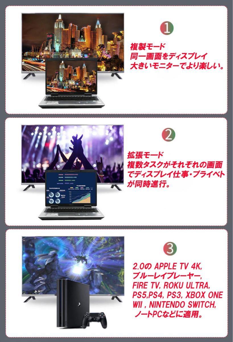 HDMIケーブル 1.5m タイプAオス HD 2K4K 60Hz対応