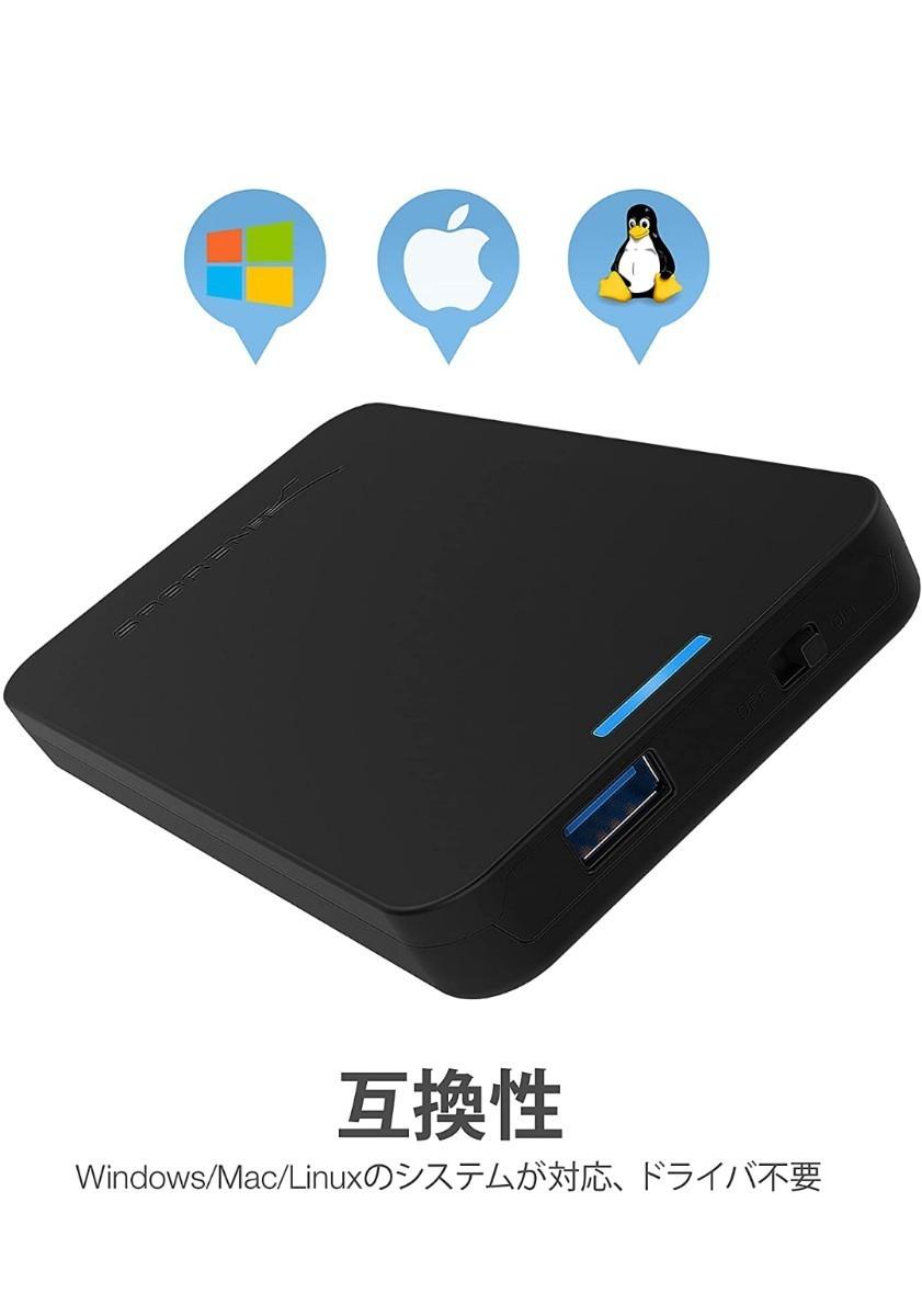 使用時間が短いUSB3.0外付けポータブルHDD750GB(データーバックアップソフト付)
