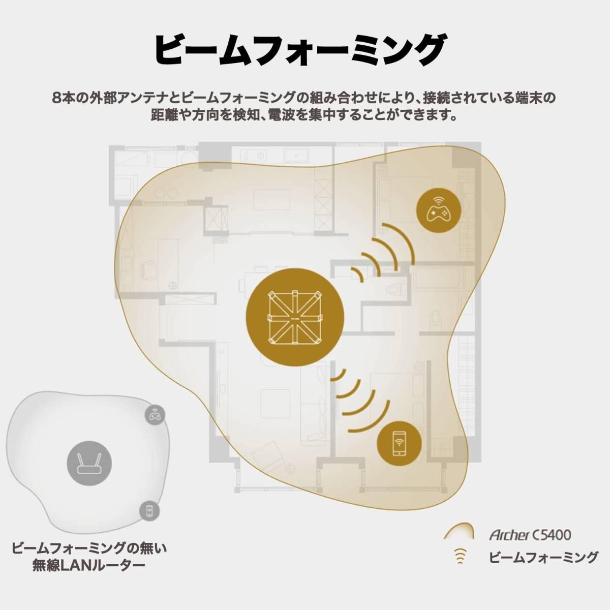 TP-Link WiFi 無線LAN ルーター Archer C5400 11ac ウイルス対策 セキュリティ AC5400 2167+2167+1000Mbps トライバンド 0504am09