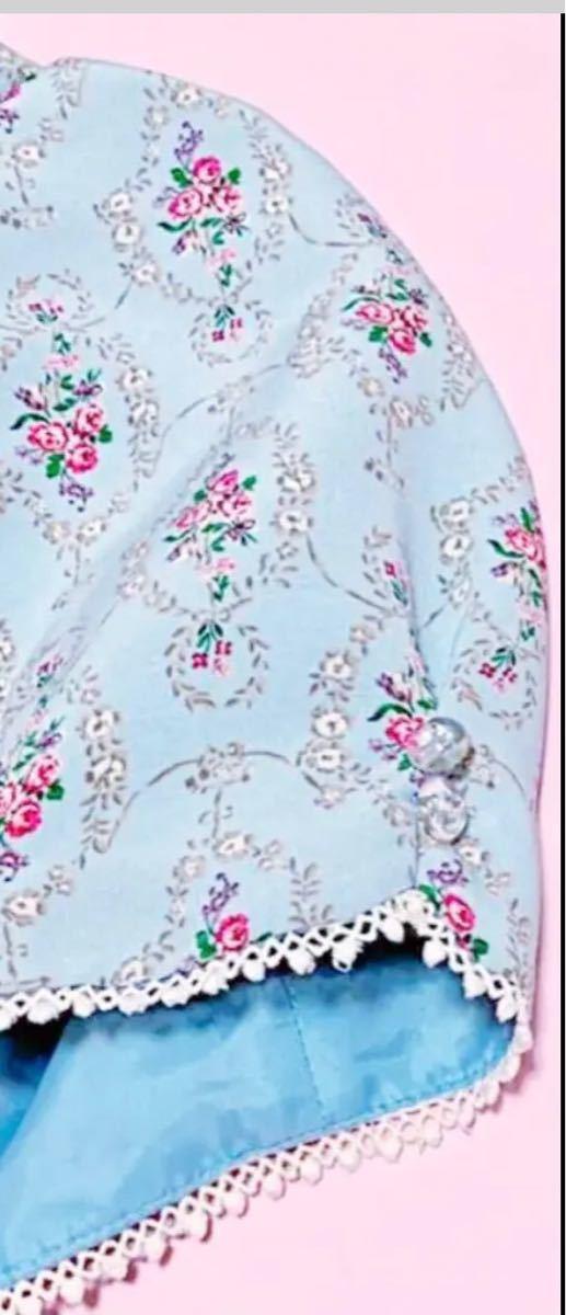 700円スタート ウィルセレクション 花柄 ワンピース 薔薇 半袖 ワンピース ワンピース_画像9