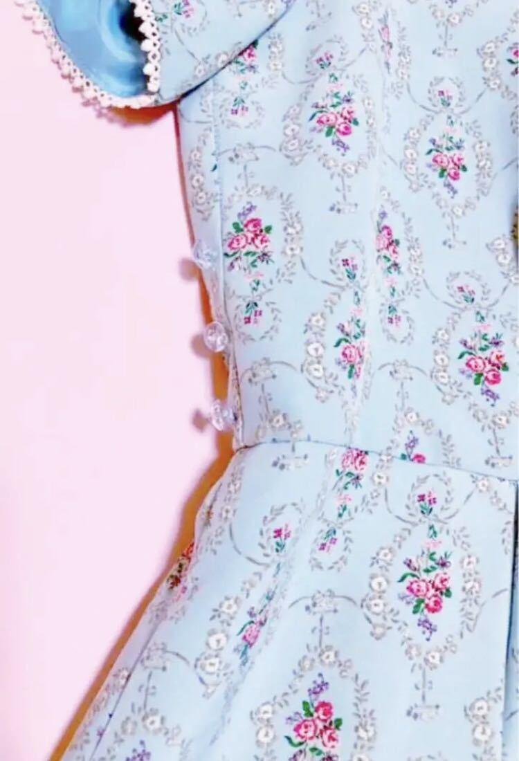 700円スタート ウィルセレクション 花柄 ワンピース 薔薇 半袖 ワンピース ワンピース_画像1