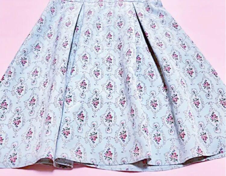 700円スタート ウィルセレクション 花柄 ワンピース 薔薇 半袖 ワンピース ワンピース_画像3