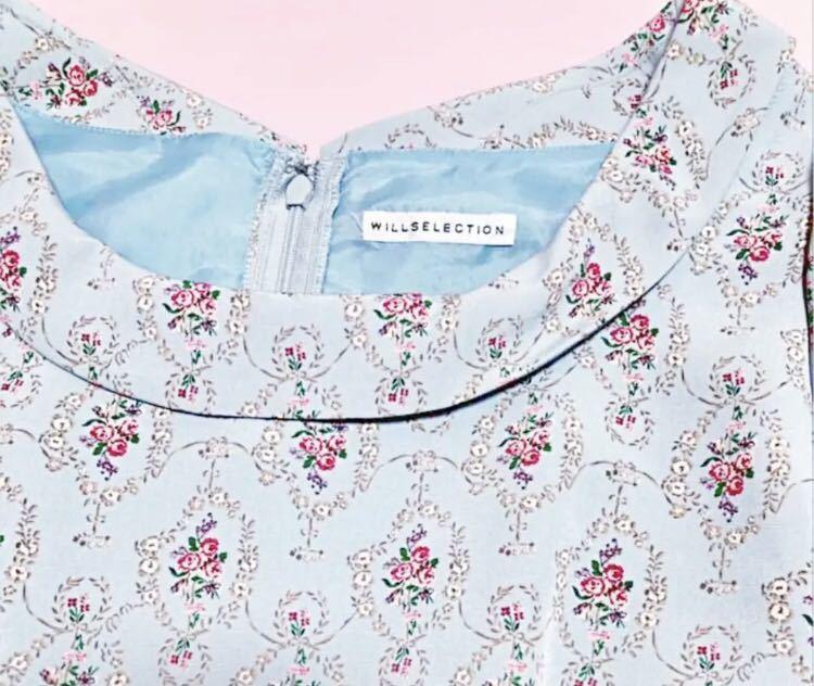 700円スタート ウィルセレクション 花柄 ワンピース 薔薇 半袖 ワンピース ワンピース_画像4