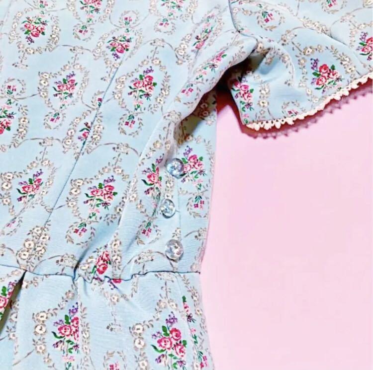 700円スタート ウィルセレクション 花柄 ワンピース 薔薇 半袖 ワンピース ワンピース_画像8