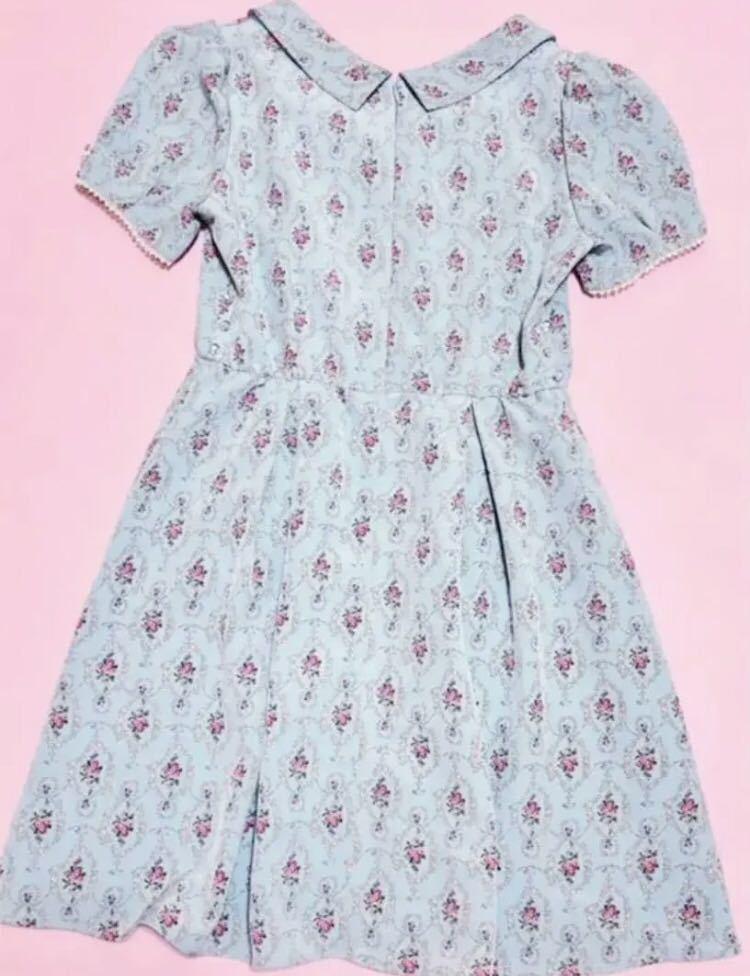 700円スタート ウィルセレクション 花柄 ワンピース 薔薇 半袖 ワンピース ワンピース_画像5
