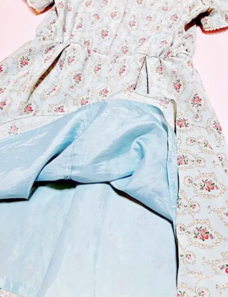 700円スタート ウィルセレクション 花柄 ワンピース 薔薇 半袖 ワンピース ワンピース_画像7