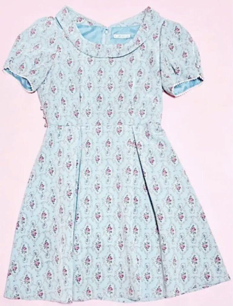 700円スタート ウィルセレクション 花柄 ワンピース 薔薇 半袖 ワンピース ワンピース_画像2