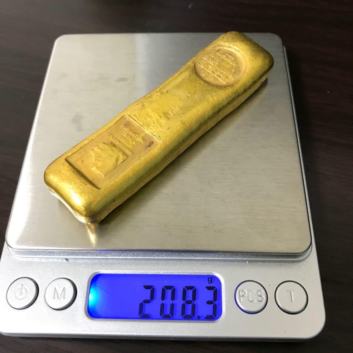 古銭 金貨 開運金棒 時代物 「香港 標準金條」刻印 縁起物 重さ208g