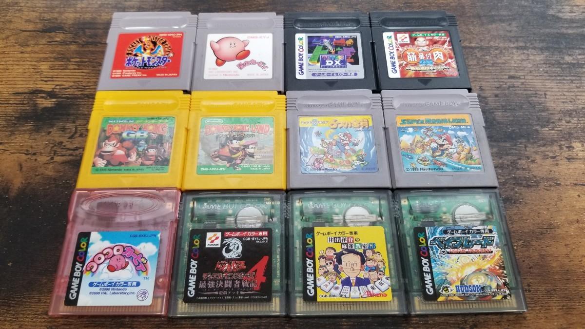 ゲームボーイ カラー ソフト 12本セット テトリス 6つの金貨 ドンキーコング 星のカービィ