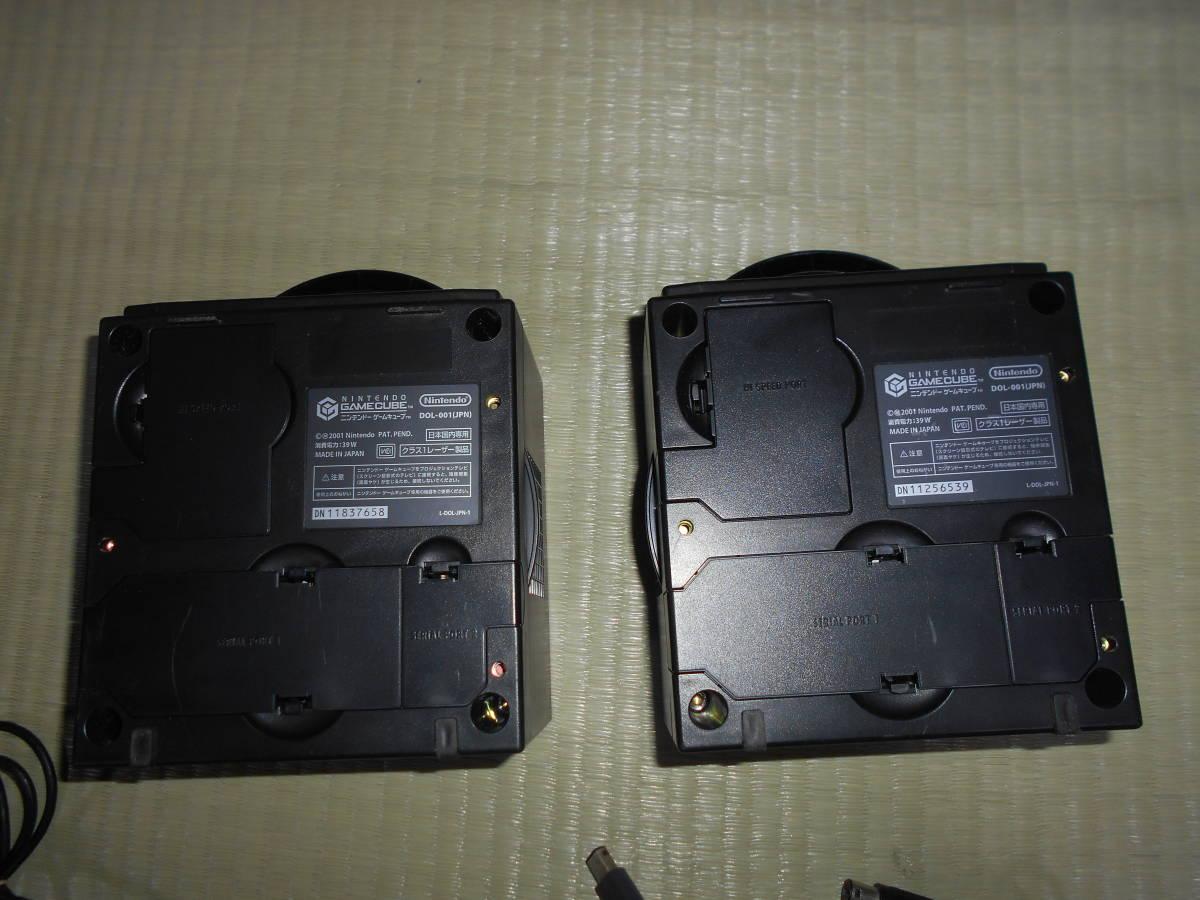 ジャンク 動作未確認 ゲームキューブ GAMECUBE ニンテンドー ブラック2台 セット Nintendo DOL-001 DOL-003 コントローラー3個 BB