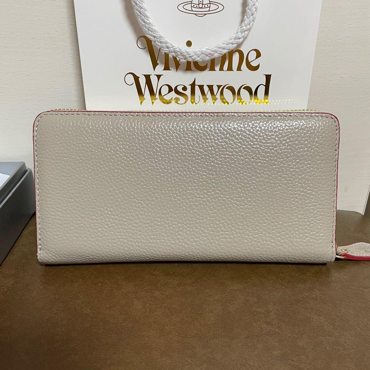 Vivienne Westwood ヴィヴィアンウエストウッド 長財布 グレージュ  ラウンドファスナー長財布