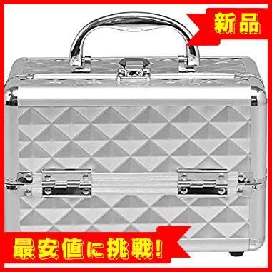 【最大85%OFF】 コスメボックス メイクボックス プロ用 Costway 鏡付き 化粧品収納ボックス シルバー 化粧箱 コス_画像9