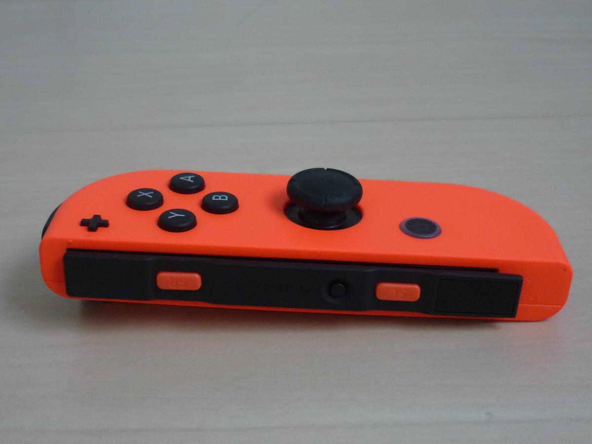 ◇■ 任天堂純正品 Nintendo Switch Joy-Con(R)ネオンレッド ストラップ付 動作確認済 ジョイコン 中古 即決_画像3