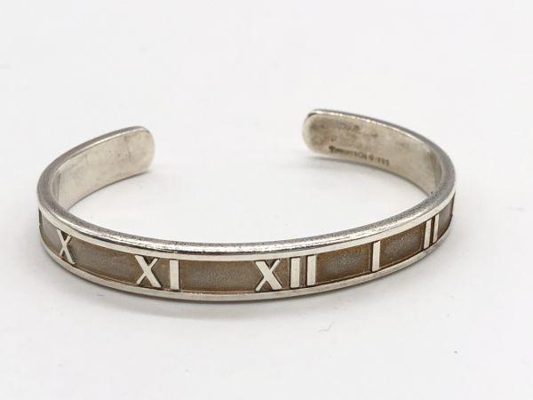 0501-510S⑧8675 Tiffany&Co. ティファニー ブレスレット バングル アトラス 925 シルバー 22.2g 腕周り約15.5cm アクセサリー