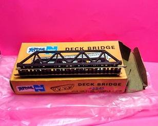 #0873 Nゲージ ATLAS社 #2457 DECK BRIDGE<デッキトラス橋>【ピンクタイガー】_画像1