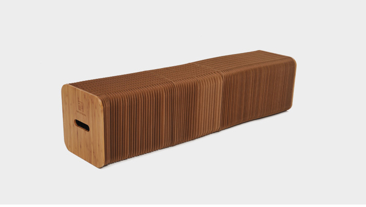 新品 未使用 入手困難 3人用 INS世界で大人気な椅子 竹製 肉厚座面 北欧伸縮イス椅子 折り畳み 綺麗 頑丈 座り心地いい 高さ42cm 全長150cm_画像10
