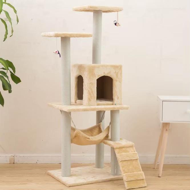 キャットタワー 猫 ねこ おしゃれ スリム 運動不足解消 省スペース