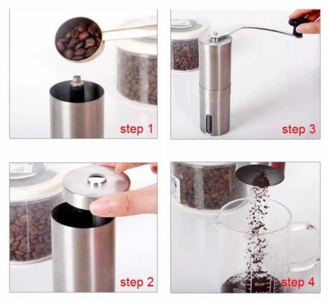 コーヒーミル 手挽き 携帯 丸洗い可 キャンプ 新品 ステンレス フェス グラインダー