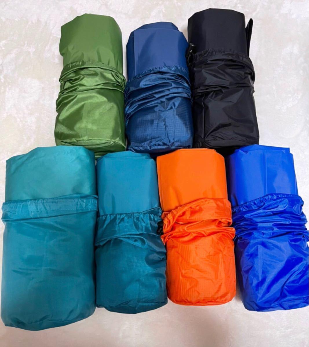 エアーマット シングル コンパクト [枕付き エアーベッド] アウトドア キャンプ 寝袋 防災 車中泊 (200×70×厚み7cm