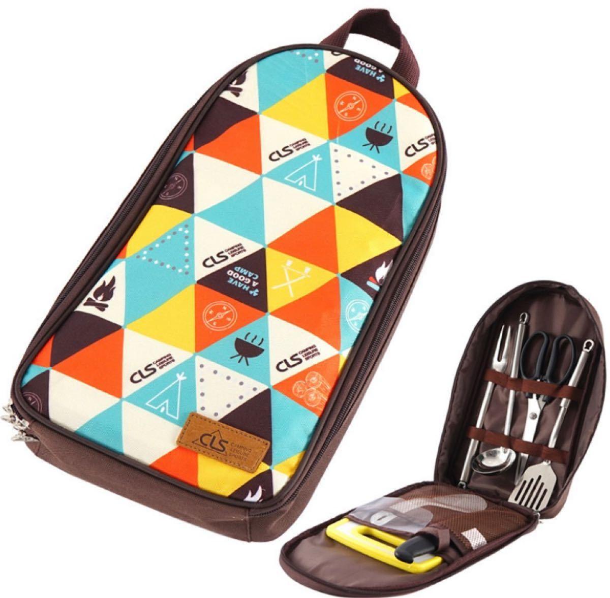 キャンプバーベキューツール7ピースセットポータブル調理器具アウトドア旅行