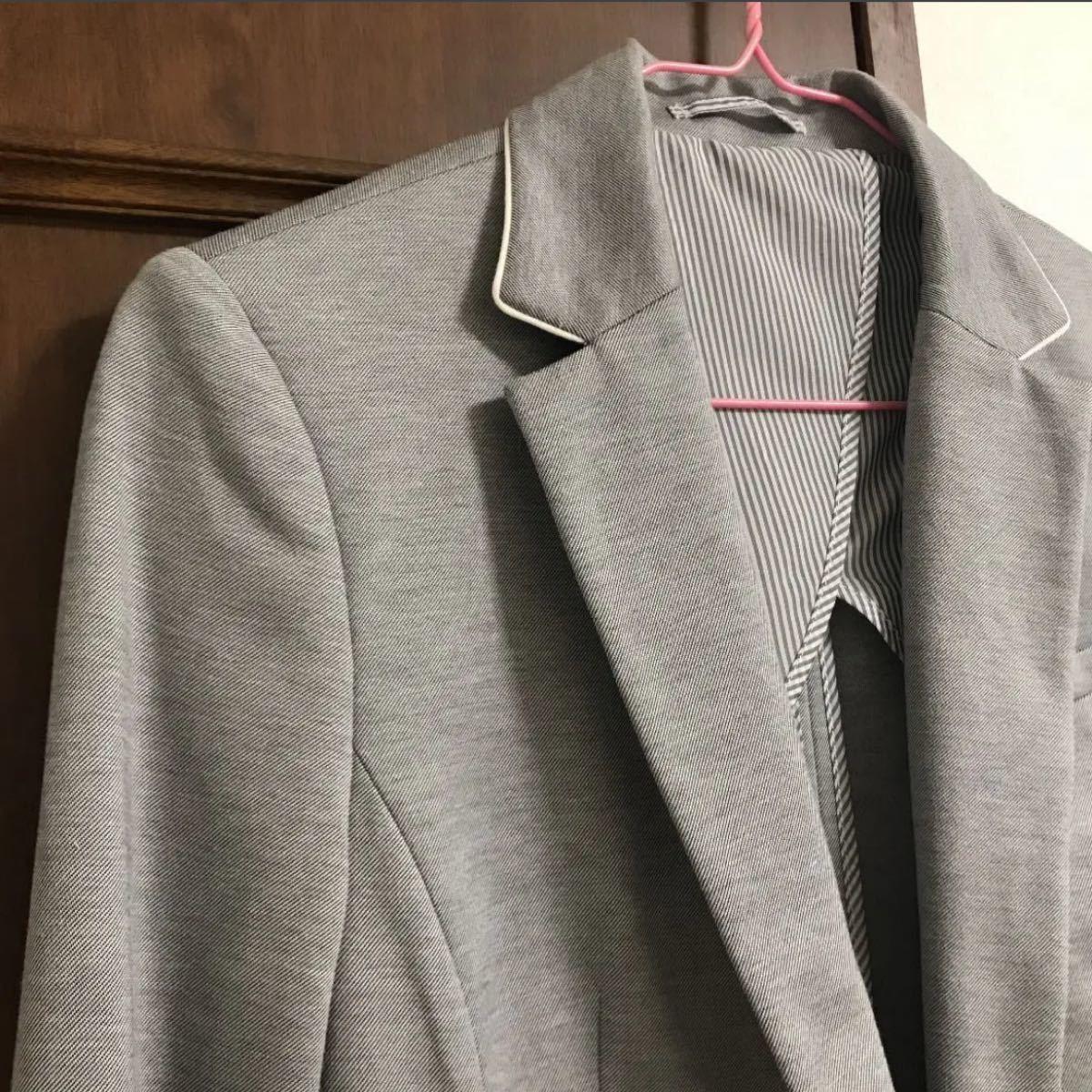 スーツセレクト テーラードジャケット レディース グレー 春夏 オフィス OL