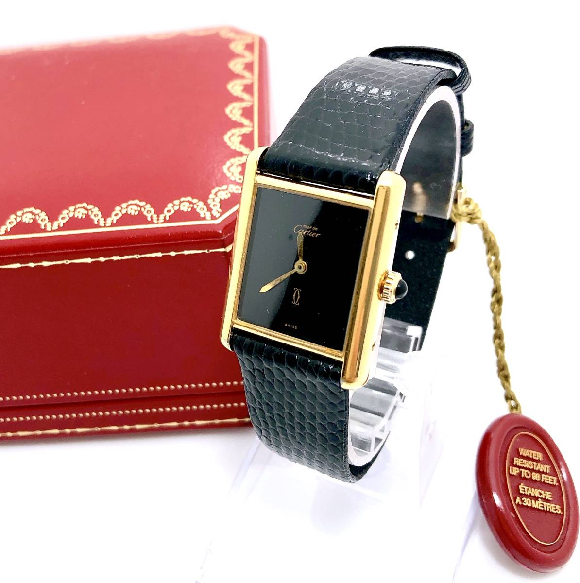 『WH-5566』ベルト新品☆Cartier カルティエ☆Cartier AMERICAN argent725☆2針マストタンク