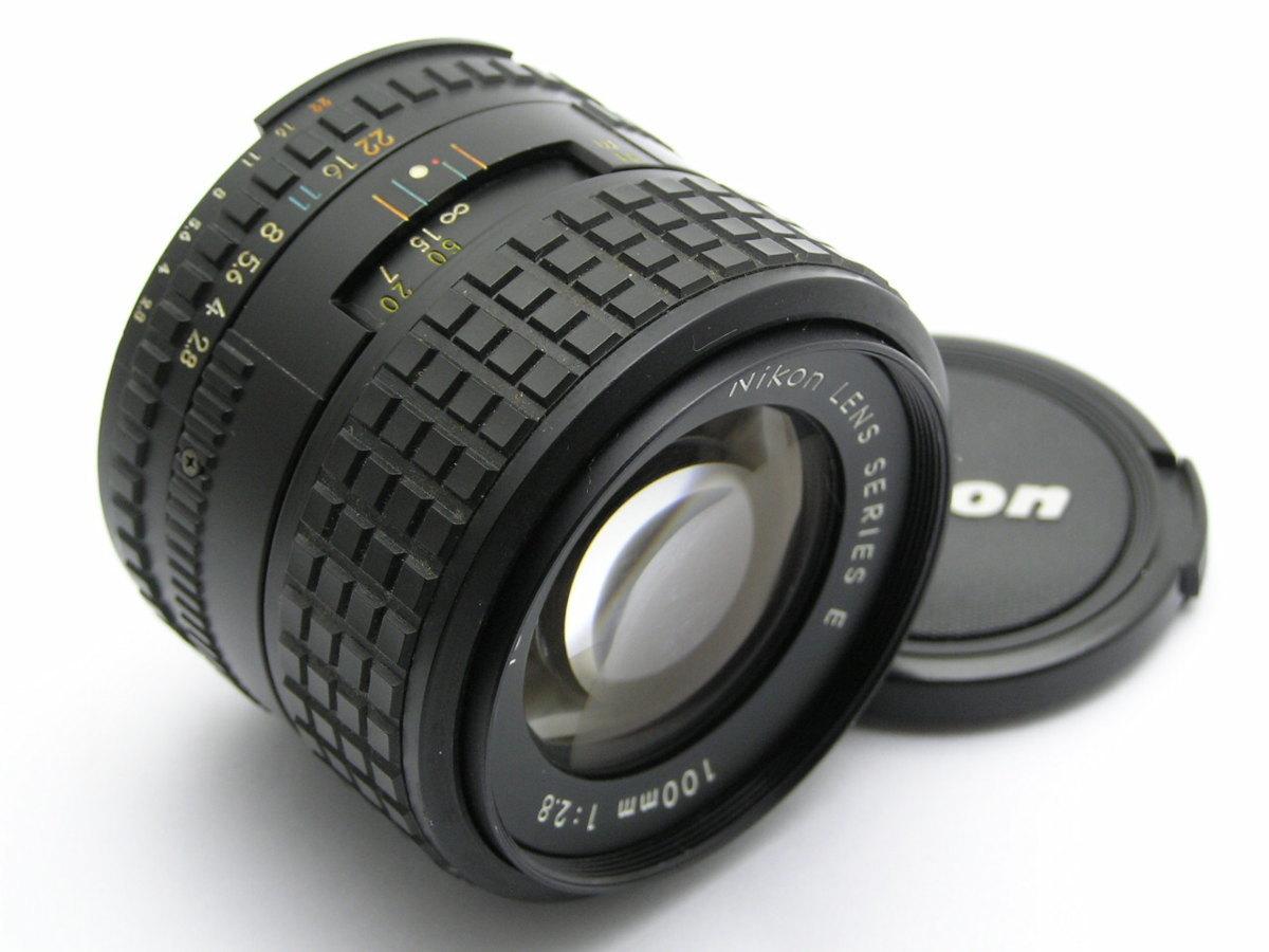 ★ハローカメラ★ 9308 Nikon LENS SERIES E ( 100mm F2.8 )くもり.カビ跡有 動作品ジャンク 1円スタート