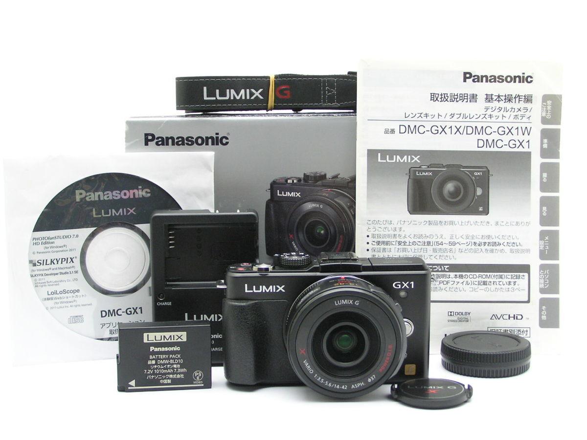 ★ハローカメラ★9482 Panasonic LUMIX GX1 ( 14-42mm F3.5-5.6 ) CD.箱.説明書.バッテリー.チャージャー付 動作確認済 1円スタート