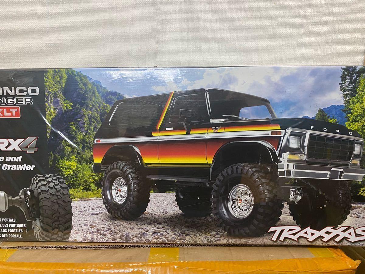新品未開封 黄 Traxxas TRX4 フォードブロンコ 変換プラグ付き RTR トラクサス 1/10 スケールクローラー RC4WD アキシャルSCX10 タミヤCC02