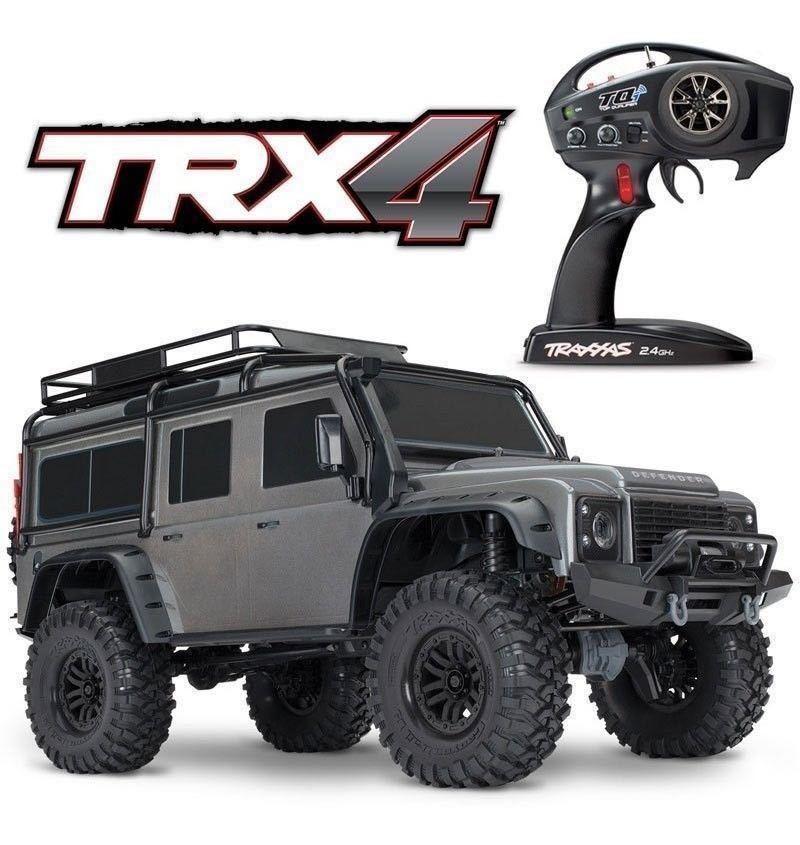Newカラーグレー 未開封 Traxxas TRX-4 ディフェンダー D110 RTR トラクサス 1/10 TRX4 スケールクローラー 4WDアキシャルSCX10 CC0201対抗