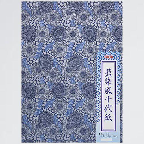 新品 未使用 和紙 ト-ヨ- 3-7Q 10枚入 014104 藍染風千代紙 No.104 B4_画像1