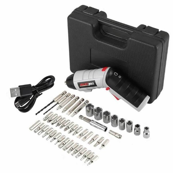 倒産 45in1電動ドライバー USB充電4.2V磁石付マグネット電動ドリル 正逆転切り替え トルク調整可 LEDライト付き ケーブル付き45-DORAIB_画像6