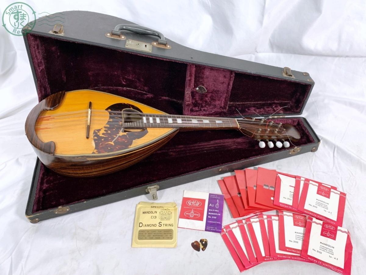 N10351 マンドリン 大野 昭和43年 作 弦楽器 ピック 弦 ケース付 中古