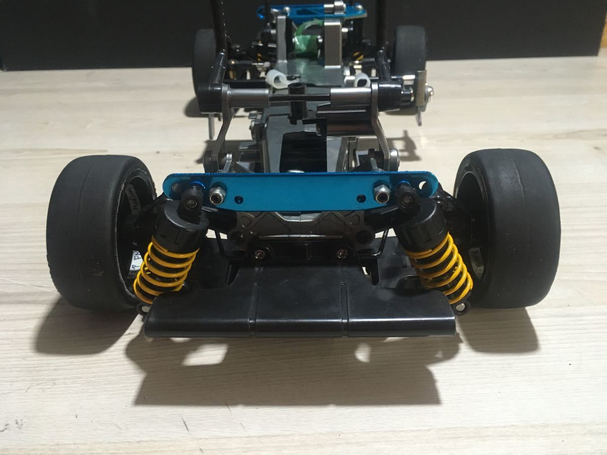 タミヤ FFO2シャーシ VWシロッコボディー モーター他オプション付き